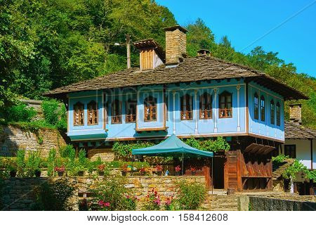 Two-storey House on a Hill Slope in Gabrovo Region, Bulgaria.