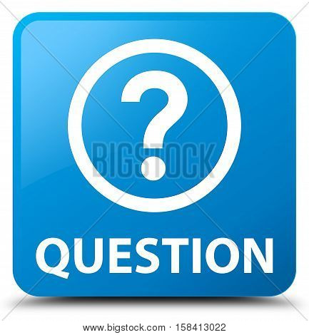 Question (quest icon) cyan blue square button