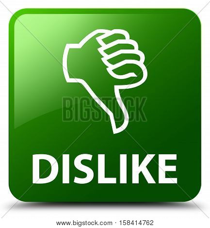 Dislike (thumbs down icon) green square button