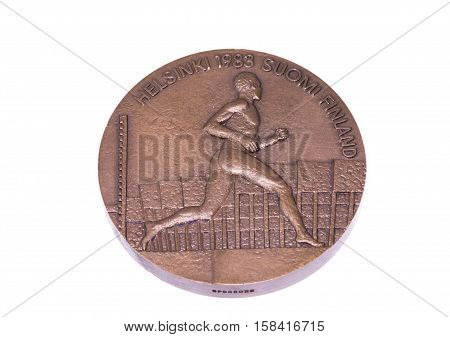 Helsinki 1983 Athletics World Championships Participation Medal, Obverse. Kouvola, Finland 06.09.201