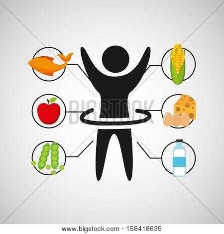sport man artistic gymnatics nutrition health vector illustration eps 10