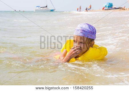 The Girl Choked And Hit The Water In The Nose, While She Was Bathing In The Sea