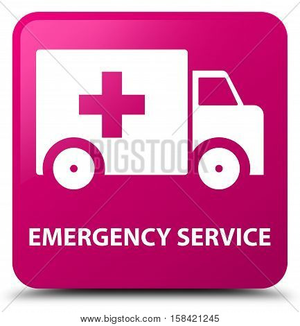 Emergency service (ambulance icon) pink square button