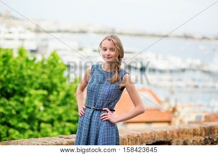 Young Woman On Le Suquet Hill In Cannes, France