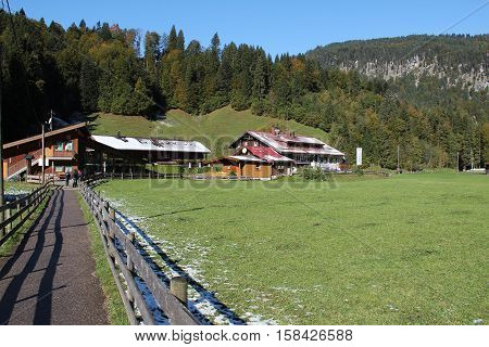 Allgaeu / Mountainous landscape in southern Germany