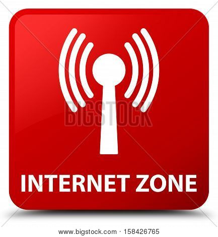Internet Zone (wlan Network) Red Square Button