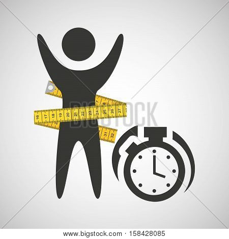 lose weight concept chronometer time vector illustration eps 10