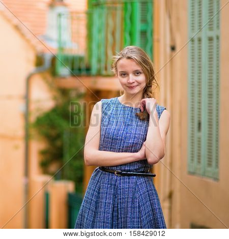 Young Girl In Cannes On Le Suquet Hill