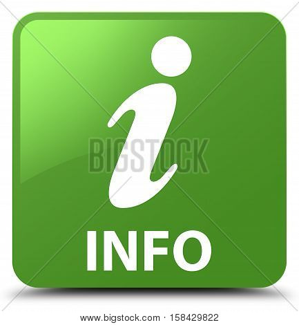Info (info icon) soft green square button