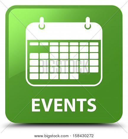 Events (calendar Icon) Soft Green Square Button