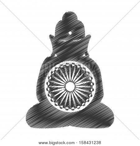 buddha india culture icon vector illustration design