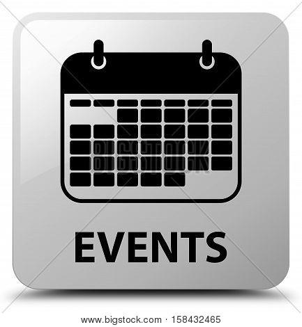 Events (calendar icon) on white square button
