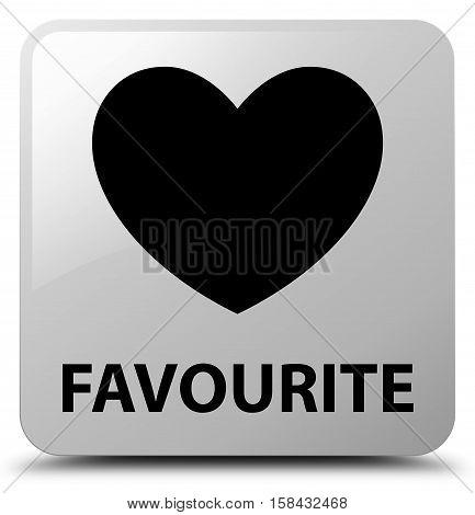 Favourite (heart icon) on white square button