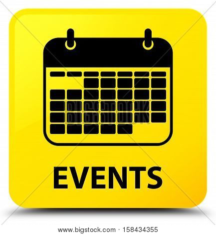 Events (calendar icon) on yellow square button