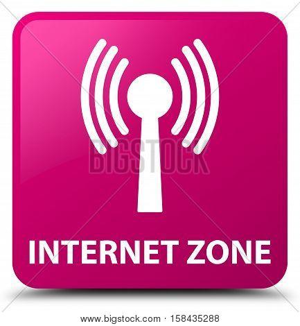 Internet Zone (wlan Network) Pink Square Button