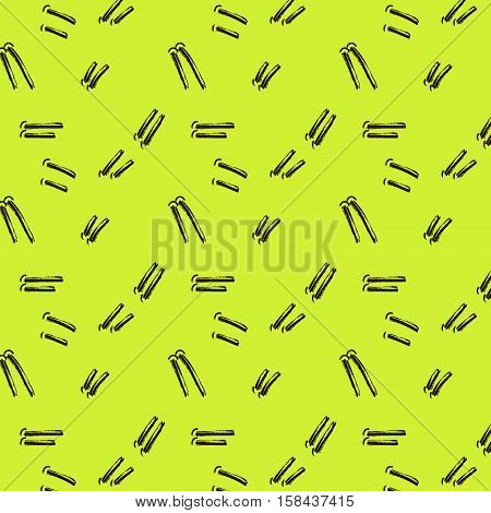 Vector Hand Drawn Tribal green Pattern.Trendy Abstract signs With Geometric lines And Aztec Decor Elements For Banners, Wallpaper, Posters, Web And Phone Case.