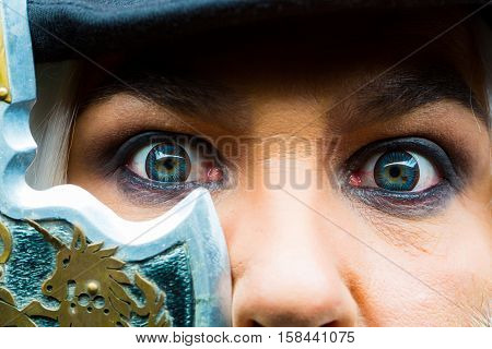 Amazed Look Of Male Eyes