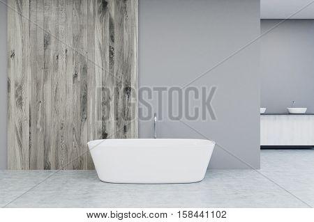 Close Up Of A White Bathtub