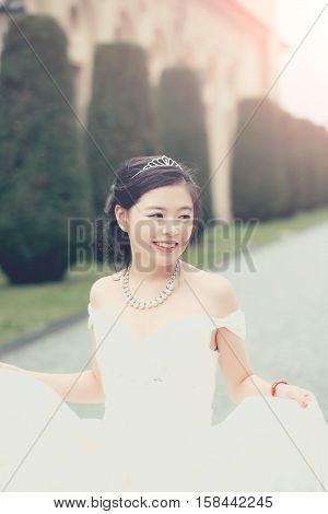 Pretty Cute Chinese Bride