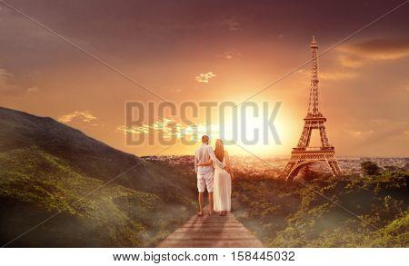 travel destination sightseeing couple