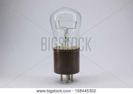 old, vintage lamp for steam punk, white background