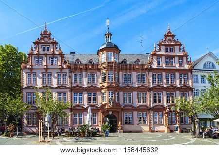 facade of Gutenberg Museum in Mainz Germany
