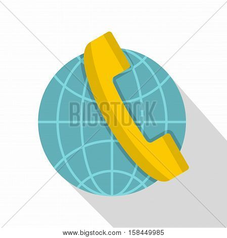 Global communication icon. Flat illustration of global communication vector icon for web isolated on white background