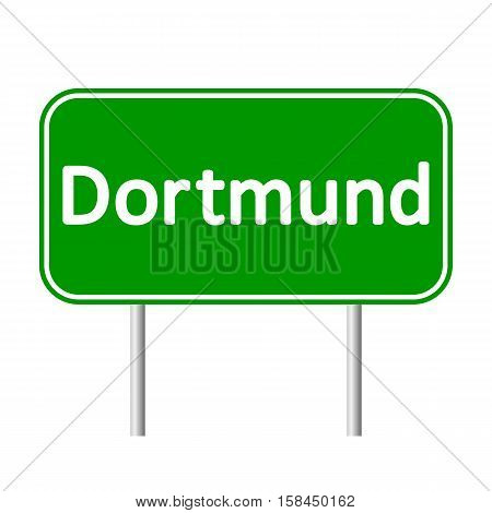 Dortmund road sign isolated on white background.