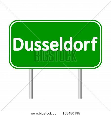Dusseldorf road sign isolated on white background.