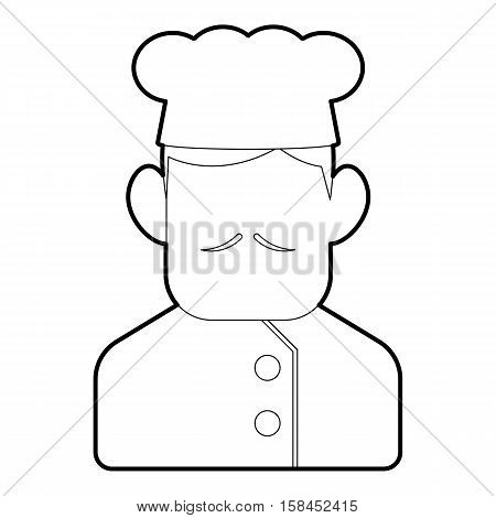 Chef cook icon. Outline illustration of chef cook vector icon for web design