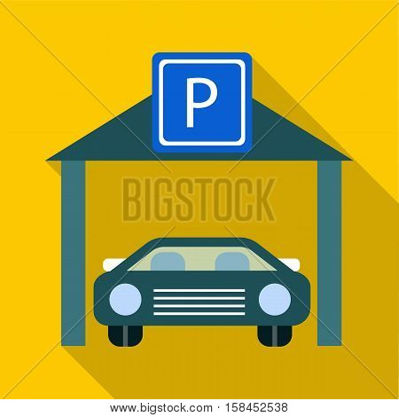 Car parking icon. Flat illustration of car parking vector icon for web