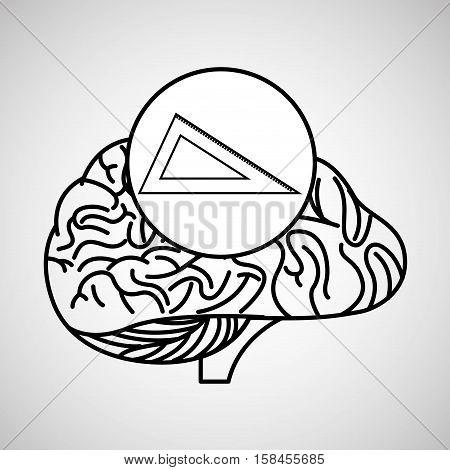 measuring tool brain school knowledge vector illustration eps 10