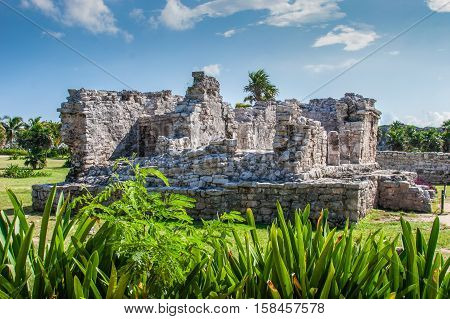 Ancient Ruins at Tulum Mexico Falling Building
