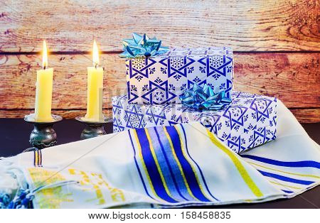 Jewish Holiday Sabbath Prayer Shawl Tallit And Shofar Horn Jewish Religious Symbol