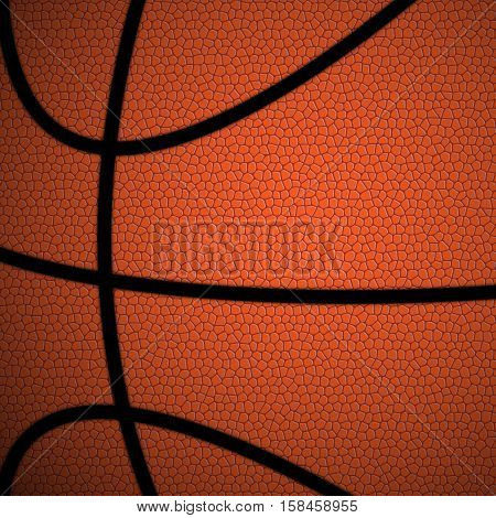 Orange/Brown Basketball close up background/texture vector illustration