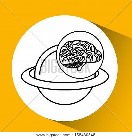solar system brain school knowledge vector illustration eps 10