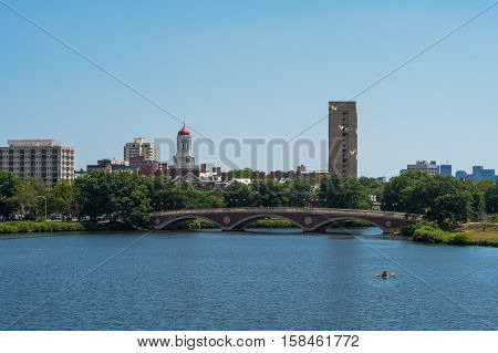 Dunster house Harvard University Cambridge Massachusettes. On the bank of the Charles River