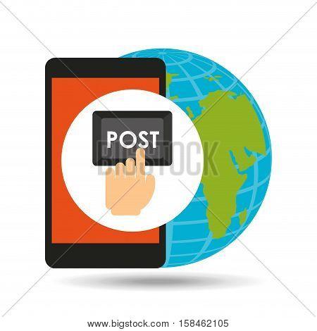 global post social network vector illustration eps 10
