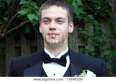 Handsome Prom Teen Horizontal