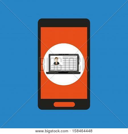 global laptop technology social network vector illustration eps 10