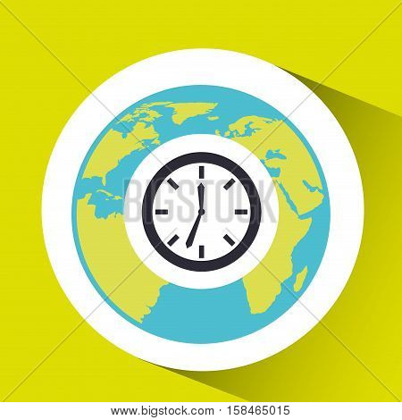 clock time social media world map vector illustration eps 10