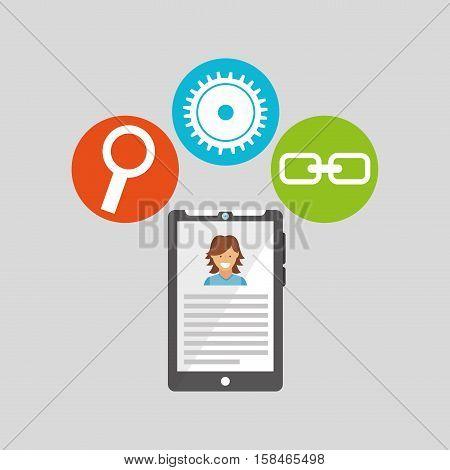 smartph technology social media concept vector illustration eps 10