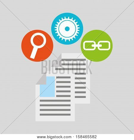 document technology social media concept vector illustration eps 10