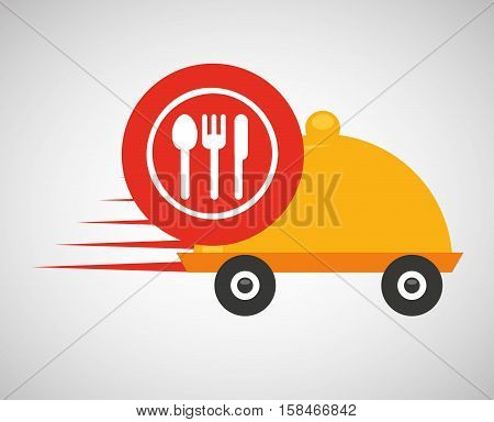 fast delivery food restaurant icon vector illustration eps 10
