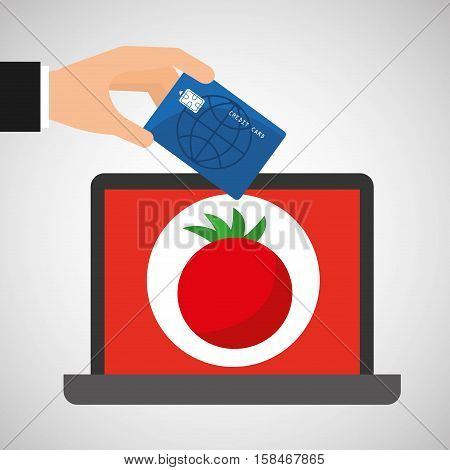 shopping online concept order tomato vector illustration eps 10