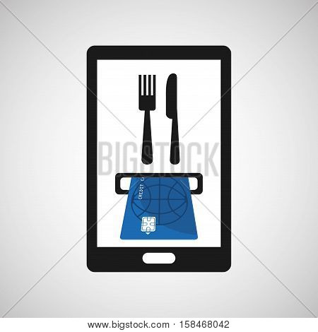 payment credit card delivery food vector illustration eps 10