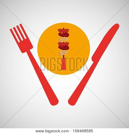 grill fast food concept grilles kebab vector illustration eps 10
