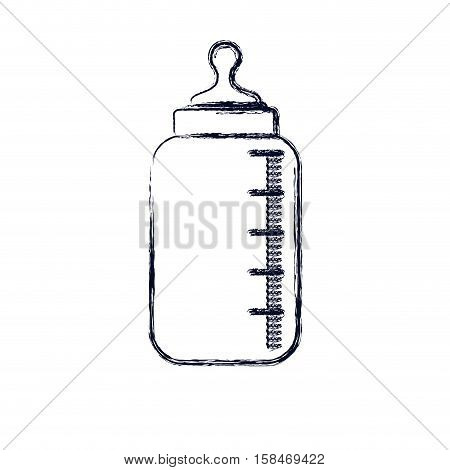 Bottle icon. Baby object child childhood infant theme. Isolated design. Vector illustration