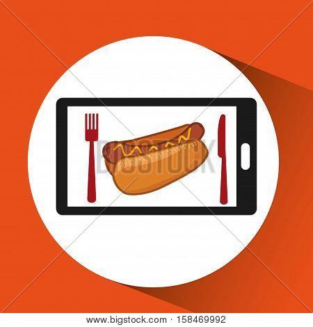 smartphone order fast food online vector illustration eps 10