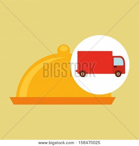 delivery truck food icon design vector illustration eps 10